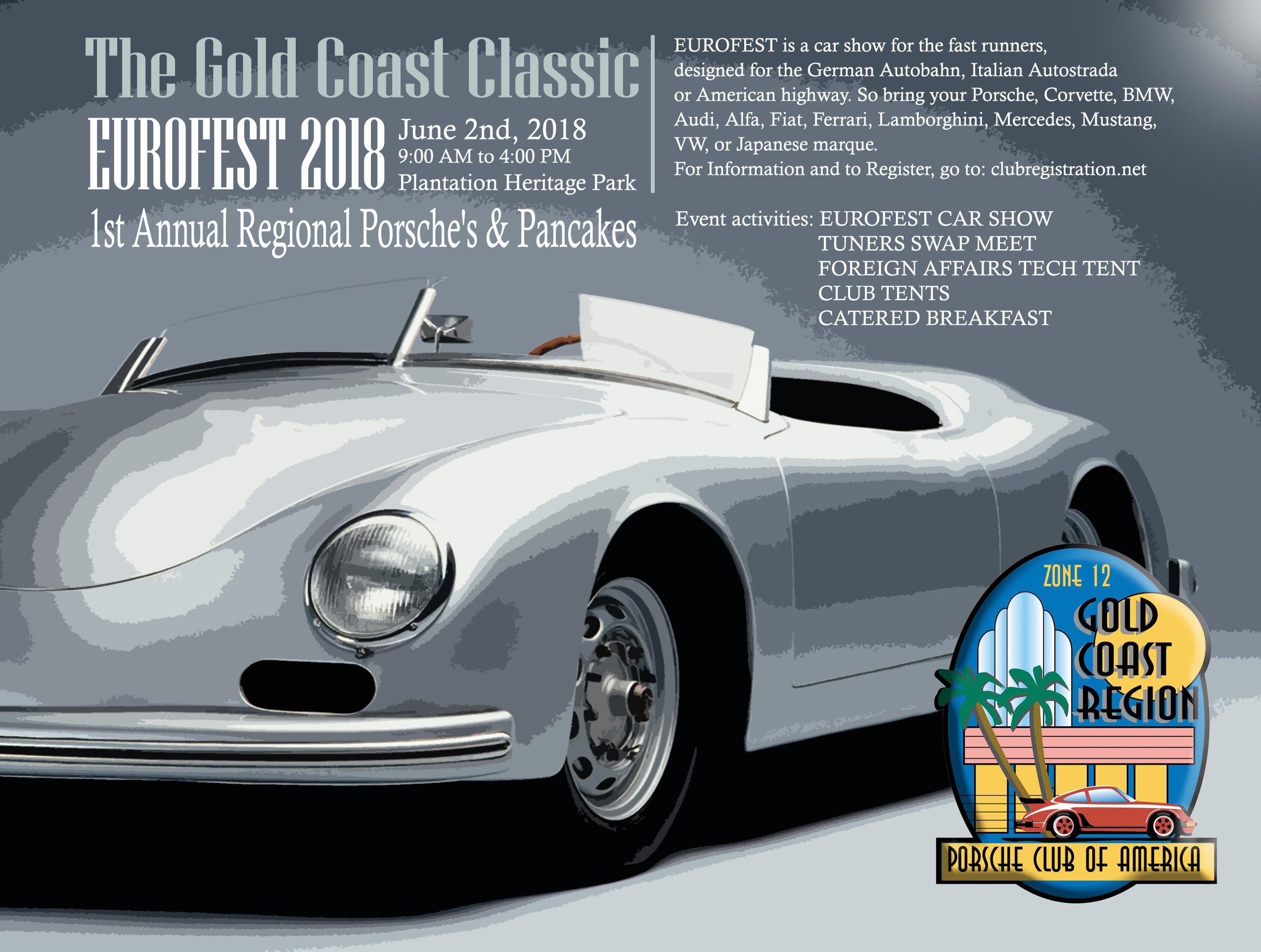 Eurofest Porsches Pancakes Gold Coast Region - American heritage car show